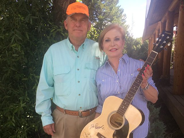 CFGV supporters, Ronny and Carolyn McCutchin won the signed Asleep at the Wheel guitar