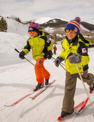 young skiers - photo cred Xavier Fane